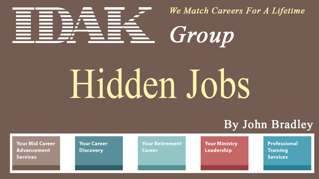 What are the hidden jobs and how are they different from posted job vacancies?